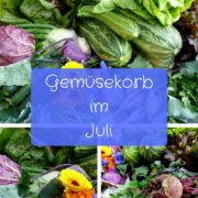 Regionales Gemüse im Juli