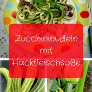 Zucchininudeln mit Hackfleisch