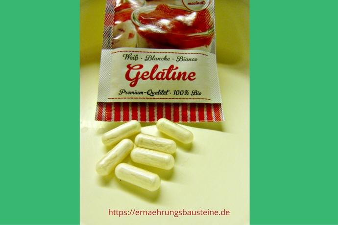 Gelantine und Probiotika für Kokosjoghurt