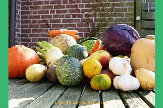 Das Obst und Gemüse gibt es im Oktober