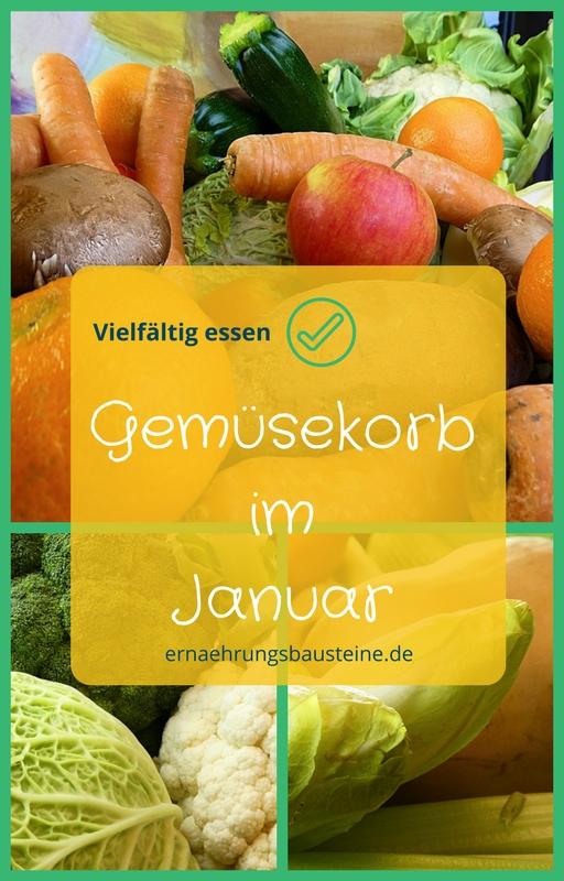 Gemüse- und Obst im Januar